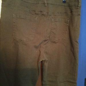 NYDJ Olive Green/Brown 18W Jeans